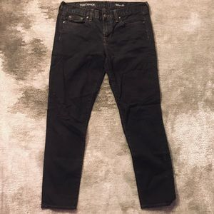 J.CREW Black Denim Toothpick Ankle Pants